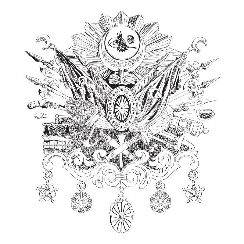 Império otomano ilustração royalty free