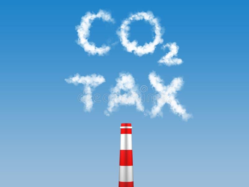 Impôt de carbone illustration stock