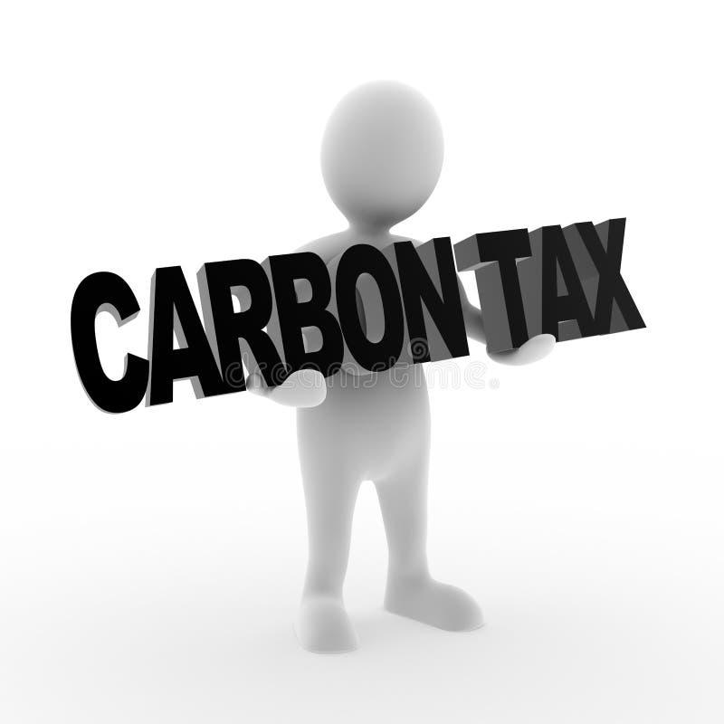 Impôt de carbone illustration de vecteur