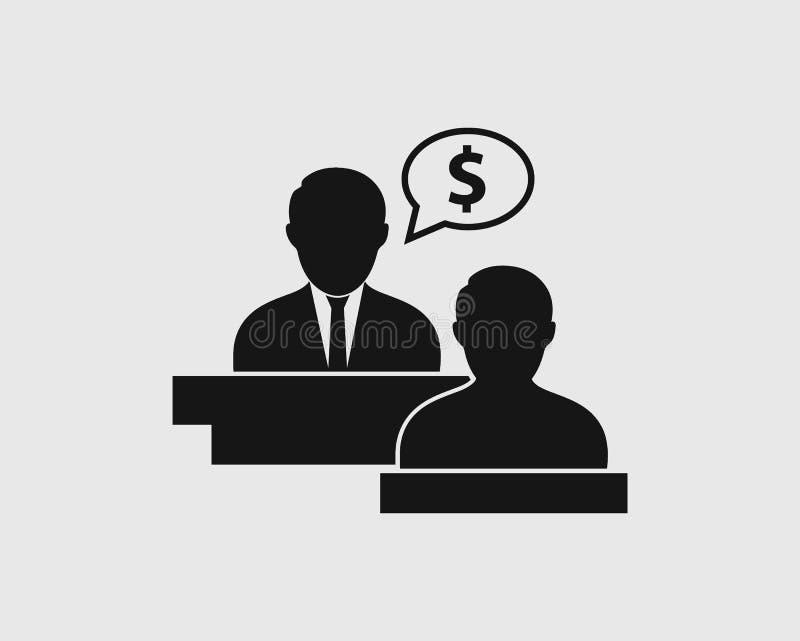 Impôt ou icône financière de conseiller illustration stock