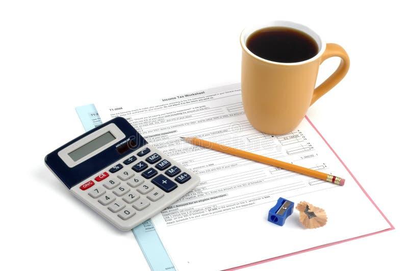Impôt sur le revenu photo stock