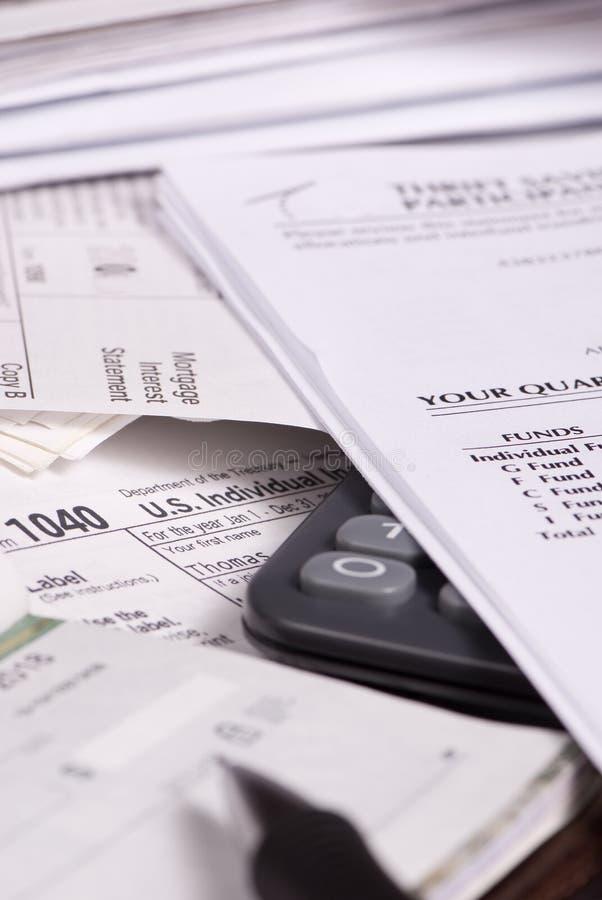 Impôts 1 image stock