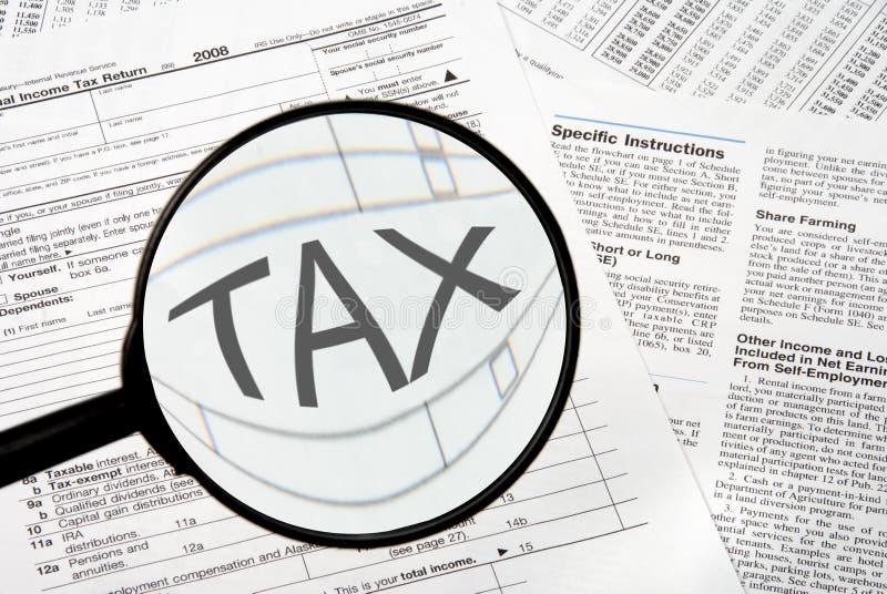 Impôts image stock