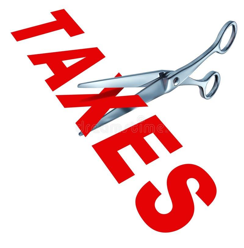 Impôts de découpage illustration libre de droits