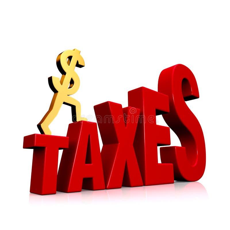 Impôts en hausse illustration stock