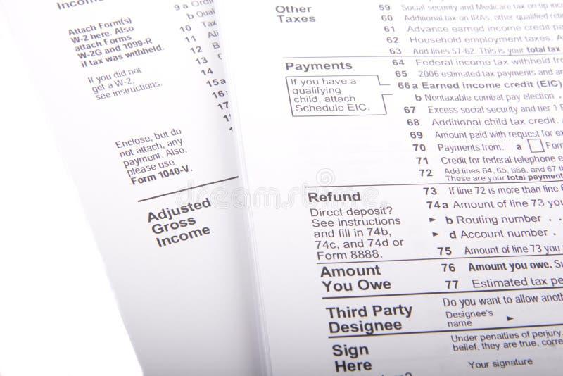 Impôts et formes photos stock