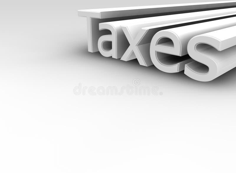 Impôts reculant dans la distance illustration de vecteur