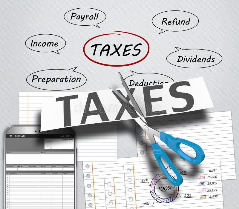 Impôt sur le revenu illustration libre de droits