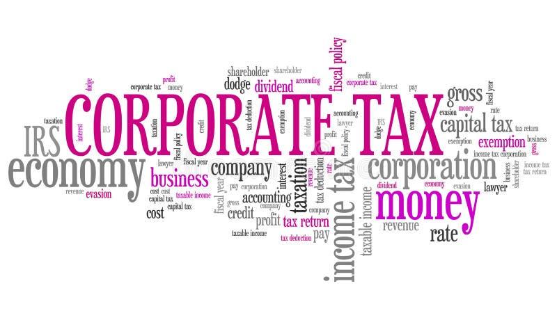 Impôt sur les sociétés illustration de vecteur