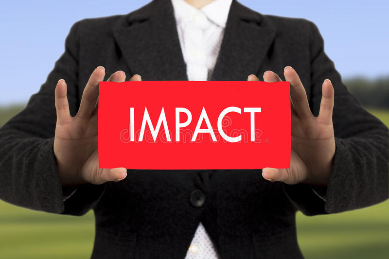 Impact royalty free stock photo