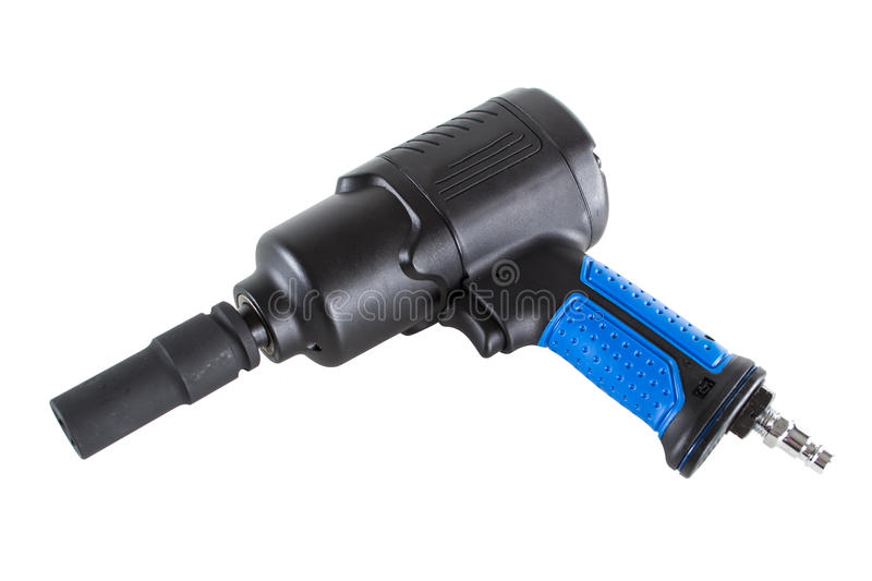 Impact wrench. With a force sleeve isolated on white background stock photos