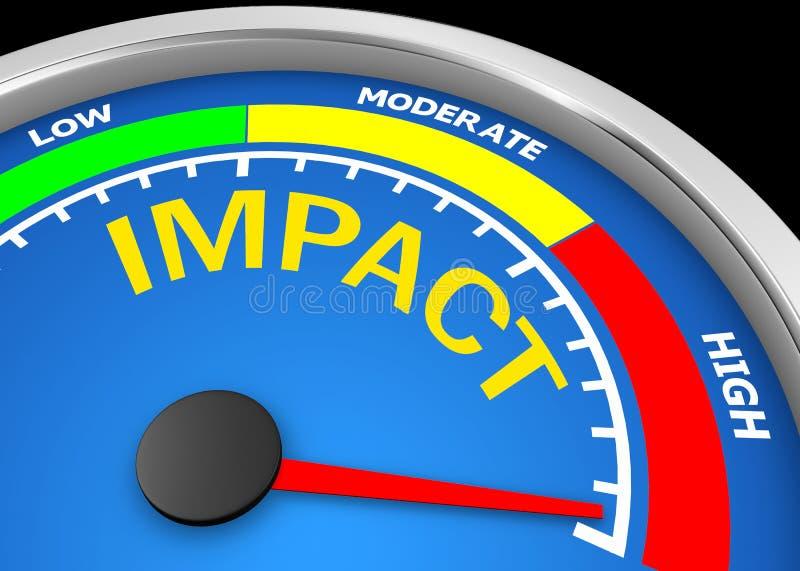 impacto ilustração royalty free