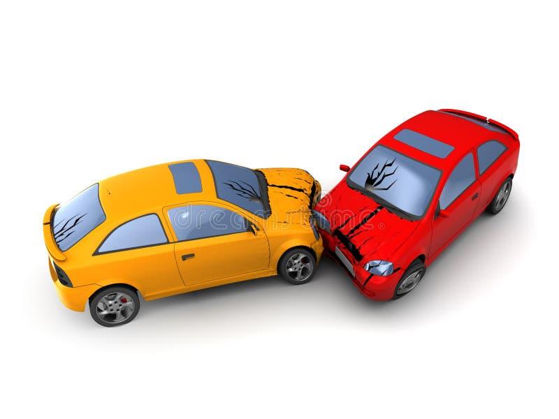 Impacto de carros ilustração royalty free