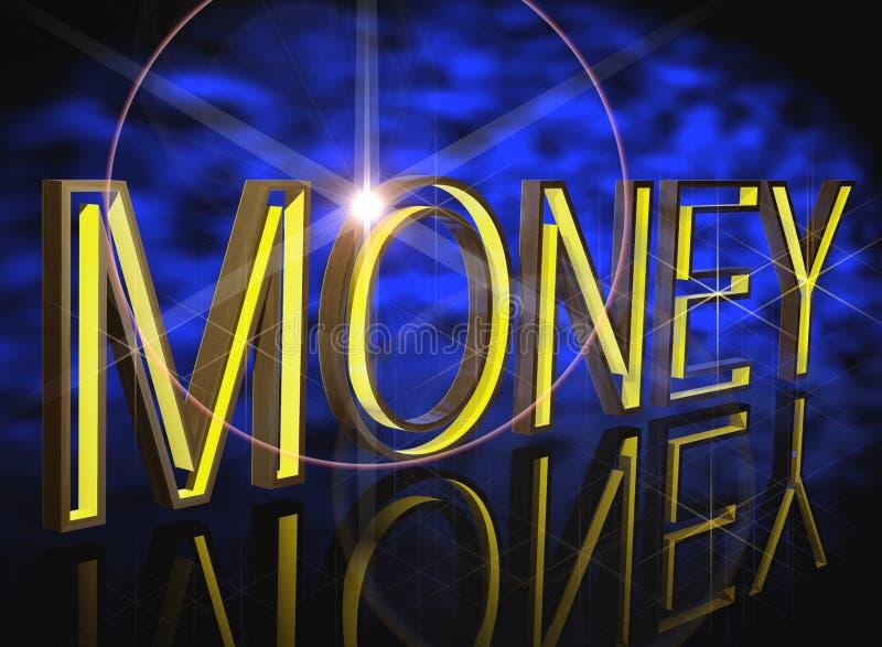 Impacto do dinheiro ilustração royalty free