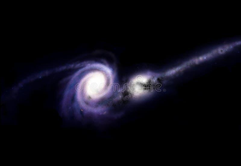 Impacto galáctico ilustração stock