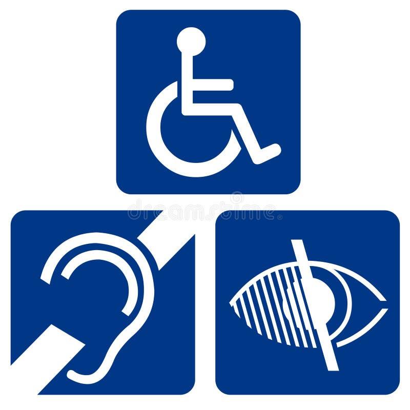 Impaired Symbols stock illustration
