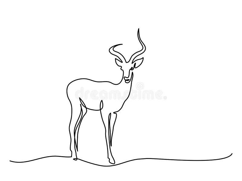 Impala chodzący symbol royalty ilustracja