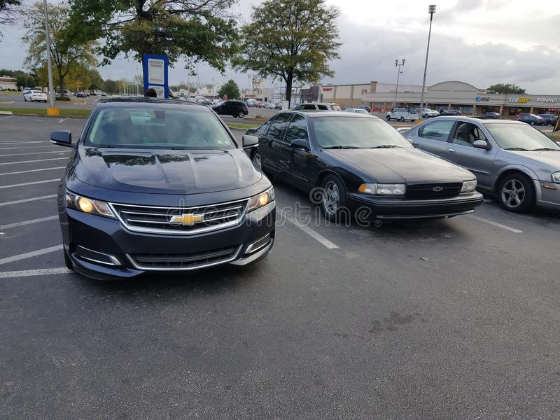Impala 2014 do lt 2lt 1990 Chevy da impala de Chevy ss imagem de stock