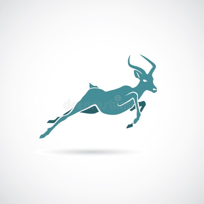 Impala running vector illustration