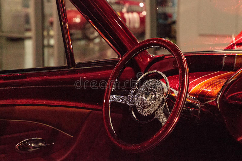 Impala van Chevrolet van Gr Rey de suikergoed gekleurde lowrider 1963 door kunstenaar Al stock foto