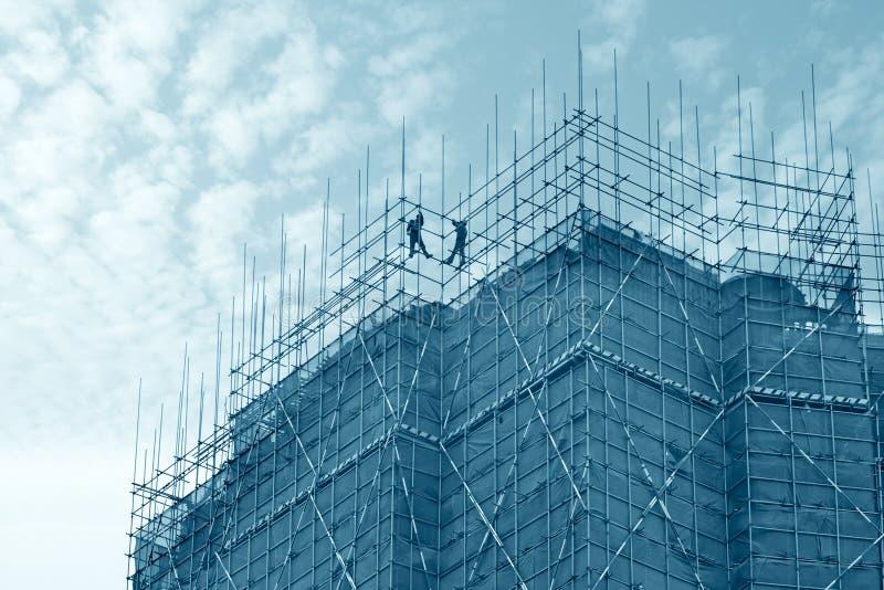 Impalcatura e costruzione fotografie stock