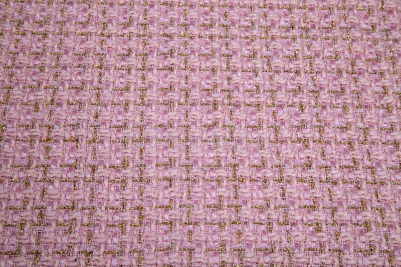 Impallidisca il panno caldo rosa in plaid fotografia stock libera da diritti