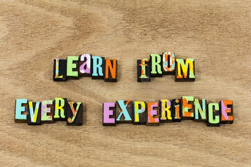 Impari da successo di vita di esperienza dicono il tempo di storia immagini stock libere da diritti