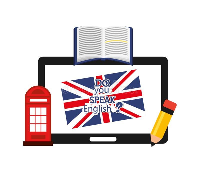 Impari la progettazione di inglese royalty illustrazione gratis
