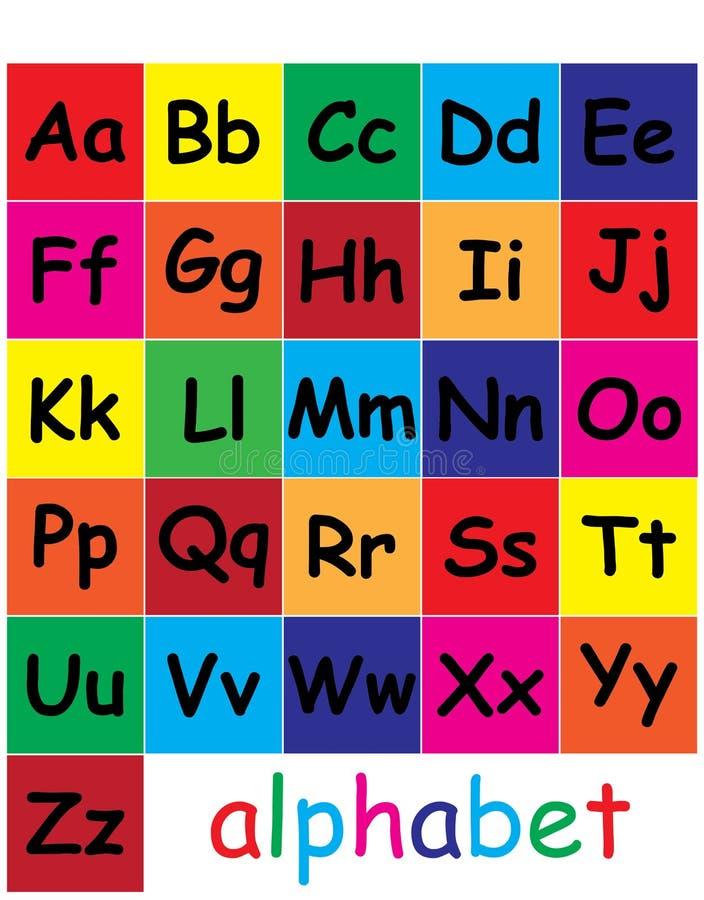 Impari le lettere media per l'apprendimento delle lettere per i bambini royalty illustrazione gratis