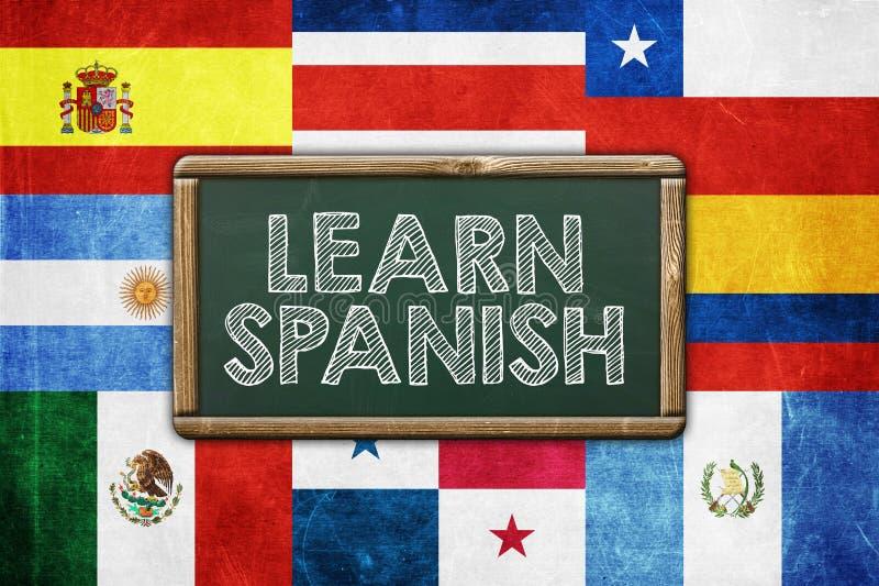Impari lo Spagnolo immagine stock libera da diritti