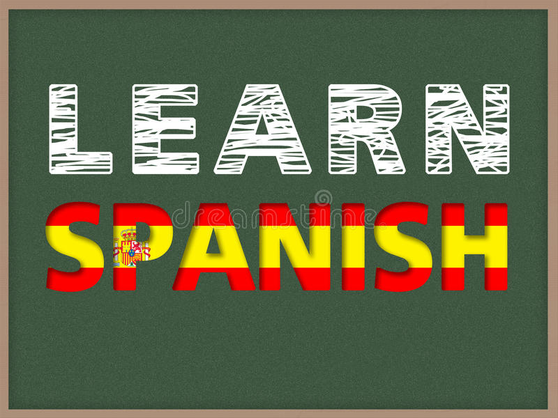 Impari lo Spagnolo fotografie stock libere da diritti