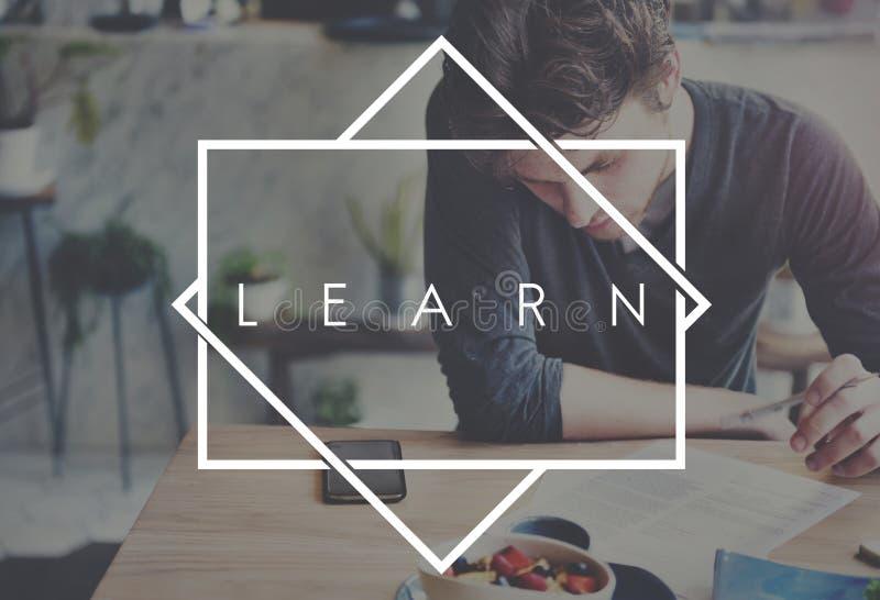 Impari lo studente Lesson Concept della scuola di studio immagine stock libera da diritti