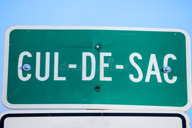 Impasse Roadisign in de straten van Montreal, Quebec, Canada Een Impasse, in het Frans, is een Impasse, of impass stock afbeeldingen
