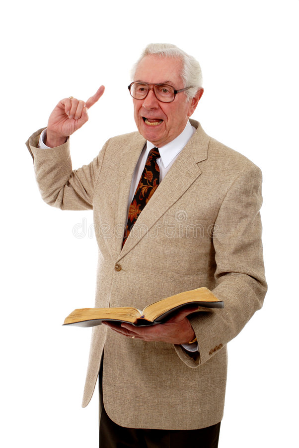 Impassioned Preacher royalty free stock image
