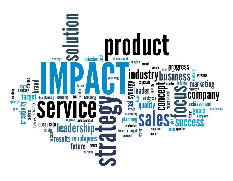 Impatto del prodotto illustrazione vettoriale