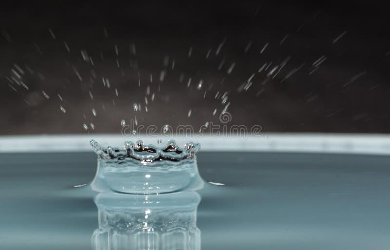 Impatto della goccia di acqua fotografia stock
