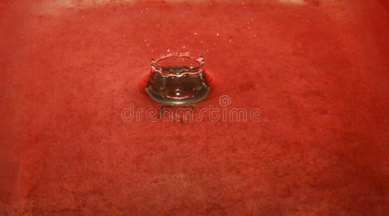 Impatto della gocciolina di acqua fotografie stock