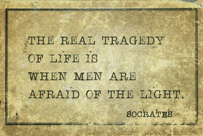 Impaurito di Socrates della luce immagini stock libere da diritti