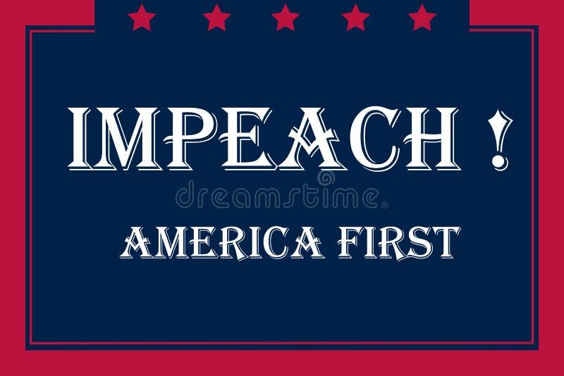 Impeachment usa, flag color stock illustration