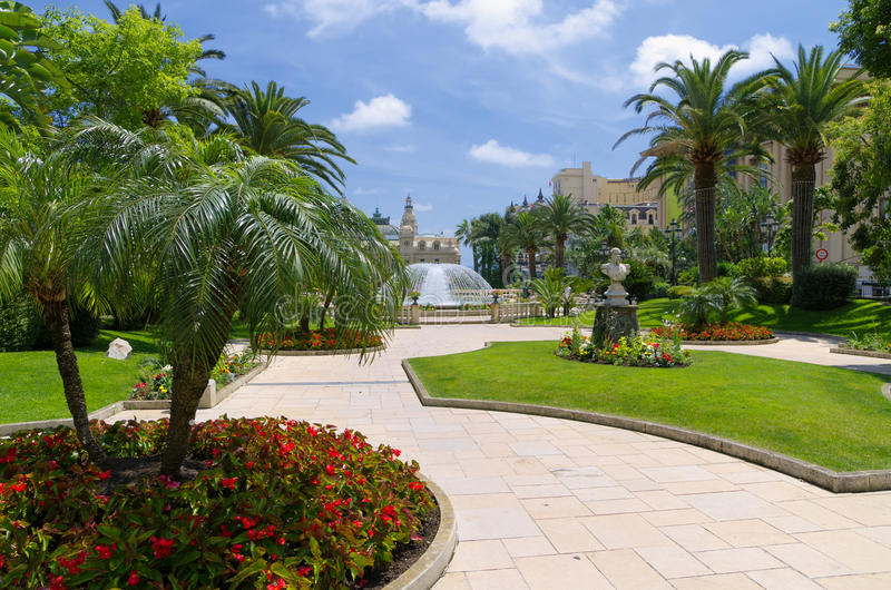 Impeccable garden in Monaco royalty free stock photos