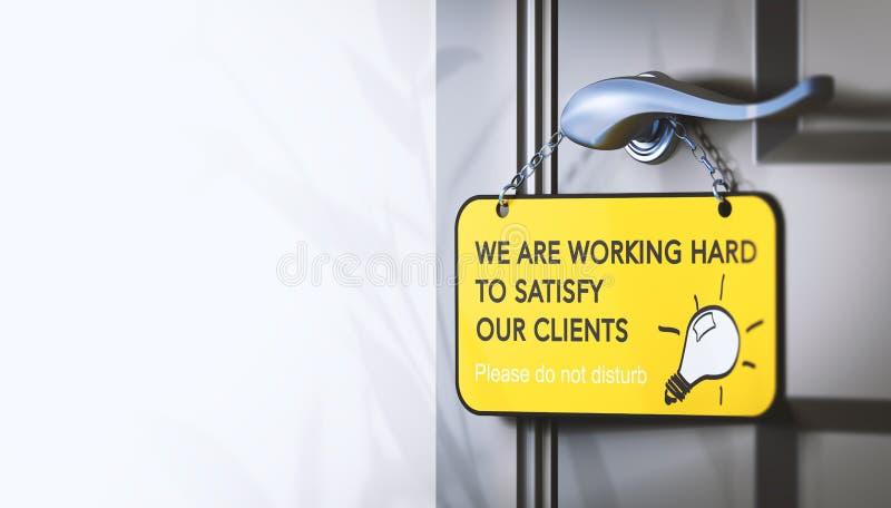 Impegno e soddisfazione del cliente degli impiegati illustrazione di stock