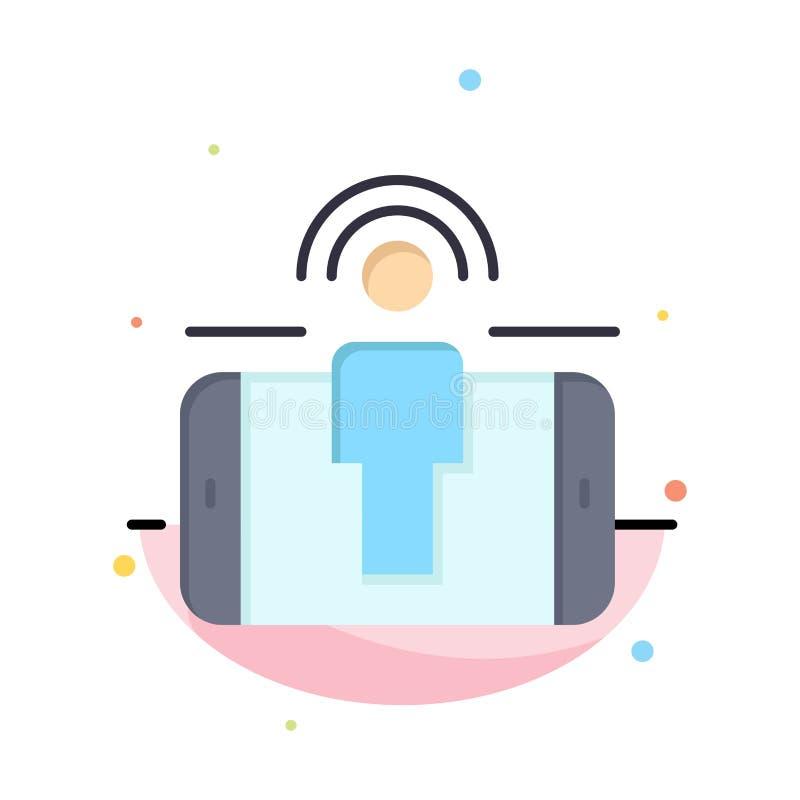 Impegno, utente, impegno dell'utente, modello piano astratto commercializzante dell'icona di colore royalty illustrazione gratis