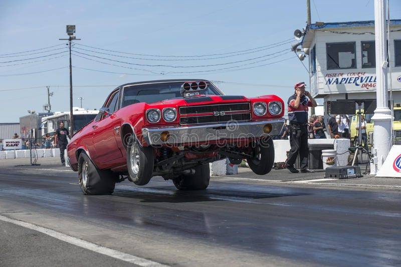 Impennata dell'automobile di resistenza immagini stock