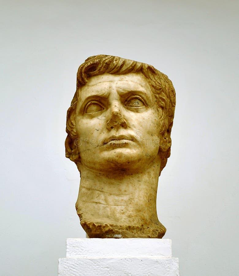 Imperador Augustus, escultura de mármore imagem de stock