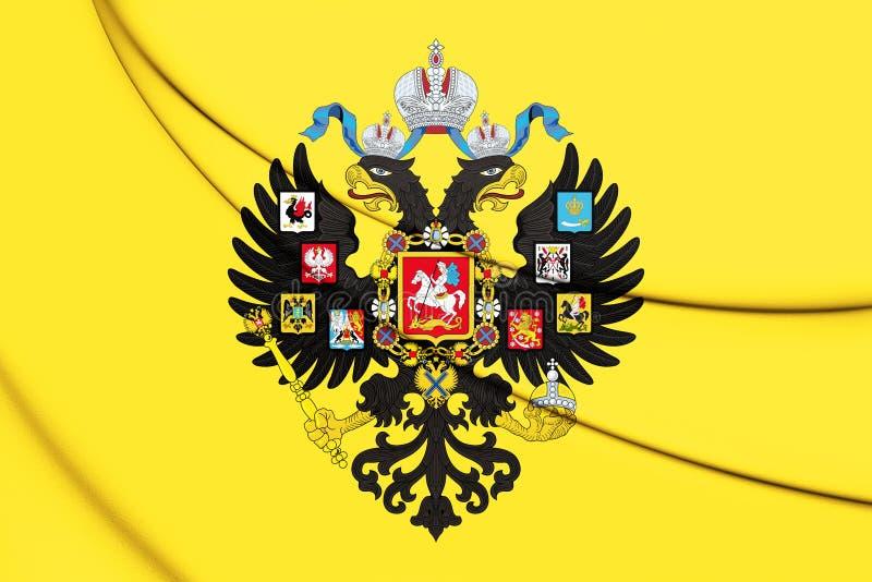 Imperador do padrão imperial 1858-1917 de Rússia ilustração royalty free