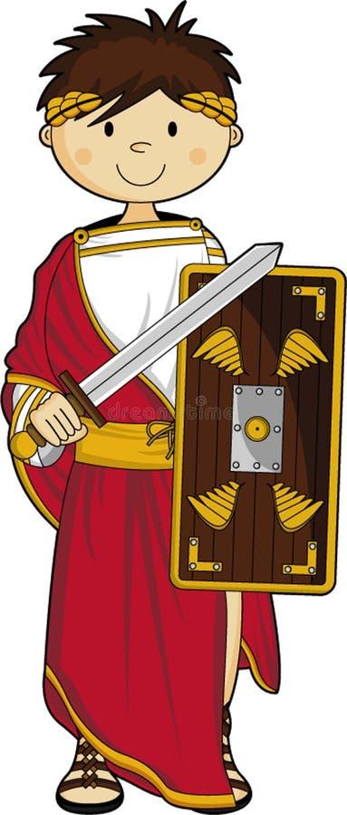 Imperador romano antigo ilustração stock