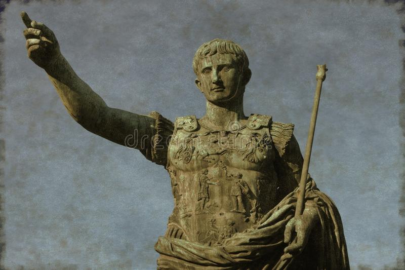 Imperador romano Augustus - vintage foto de stock royalty free