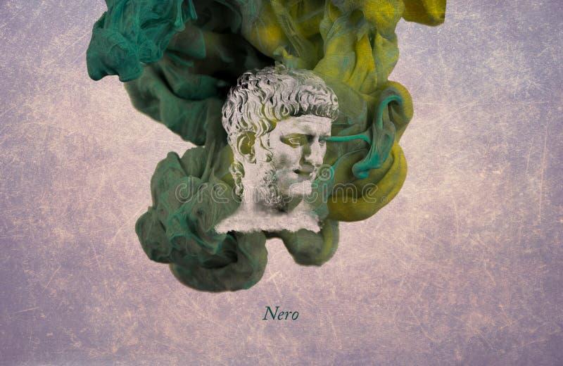 Imperador romano Nero ilustração do vetor
