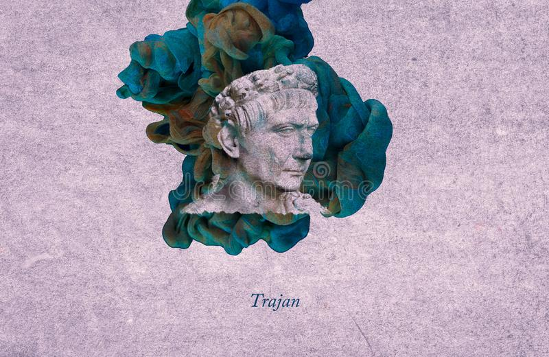 Imperador romano Trajan ilustração royalty free