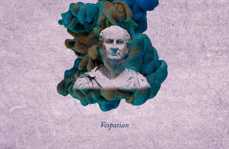 Imperador romano Vespasian ilustração royalty free